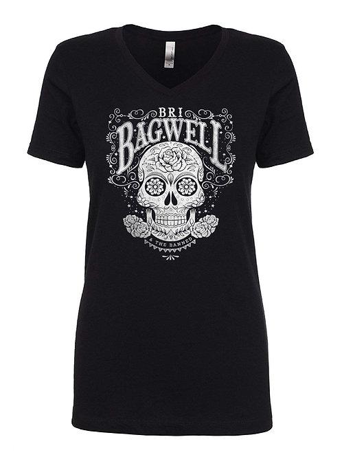 Sugar Skull V-Neck Shirt (Small Only)