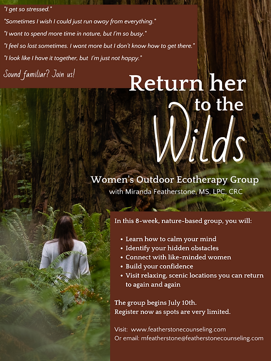 Women's Outdoor Ecotherapy Group with Mi