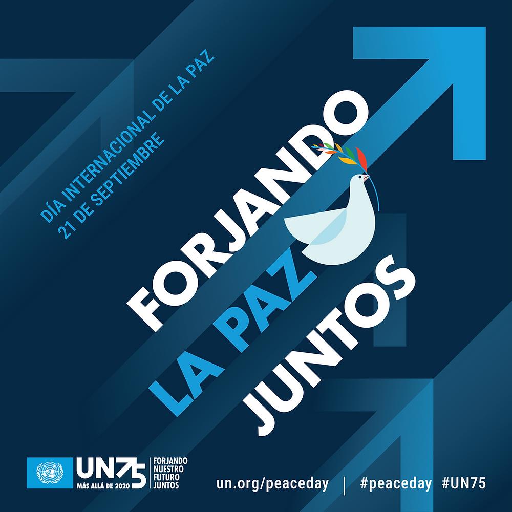 Cartel promocional del Día Internacional de la Paz 2020