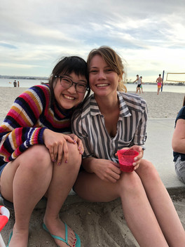 Beach party with Dinsdale lab!