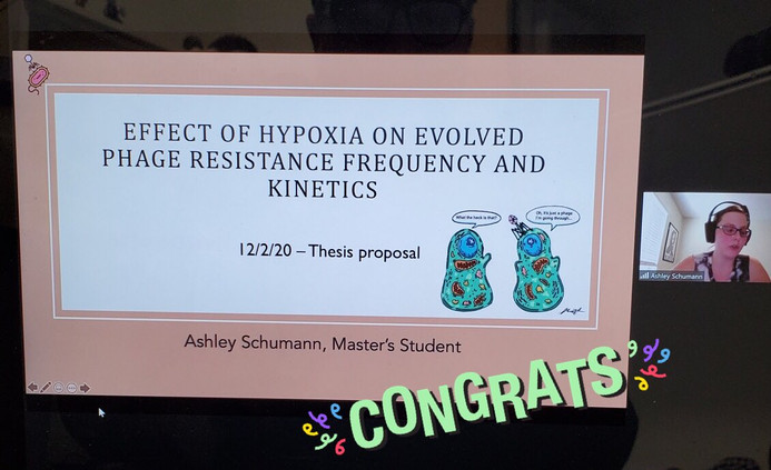 Ashley's thesis proposal! We're all so proud. 🥰