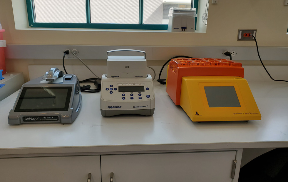 Spectrophotometer/Fluorometer, Semi-automated dissociator