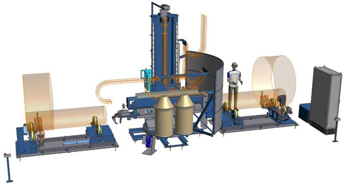 Manufacturing Unit for Longitudinal Welding