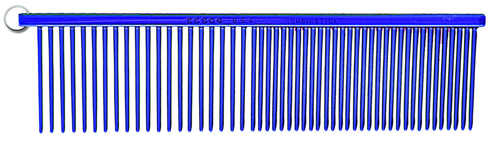 Resco Combination Comb, Candy Blue