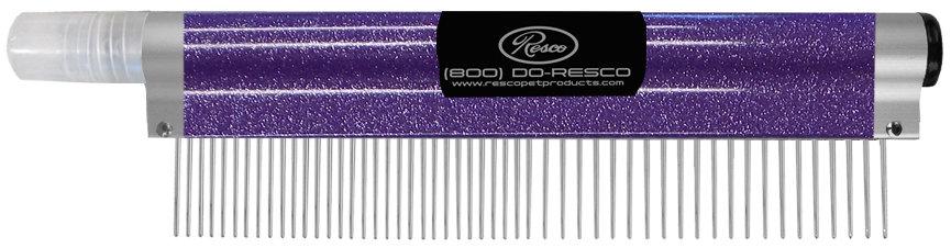 Resco Spritzer Comb, Sparkle Purple, Short to Medium Fur