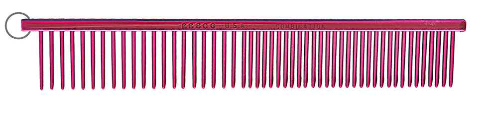 """Resco 1"""" Combination Comb, Candy Red"""