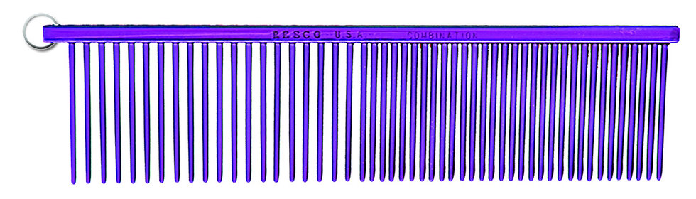 Resco Combination Comb, Candy Purple