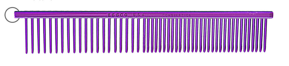 "Resco 1"" Combination Comb, Candy Purple"