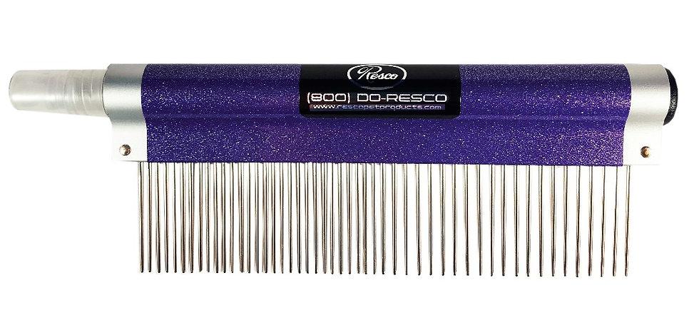 Resco Spritzer Comb, Sparkle Purple, Long Fur