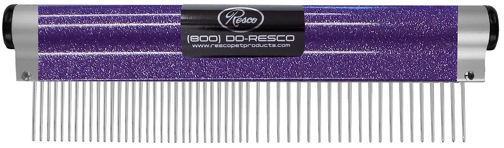 "Resco Wrap Comb, Sparkle Purple, Combo Spacing, 1"" Pins"