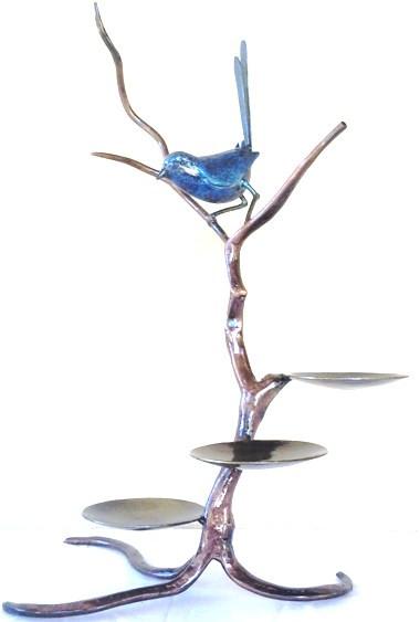 Year 11: Steel - Blue Wren Candle Sculpture