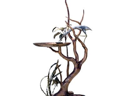 Year 22: Water (theme) - Sculptured birdbath
