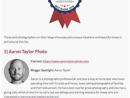 #1 Photography Blog in Columbus Award