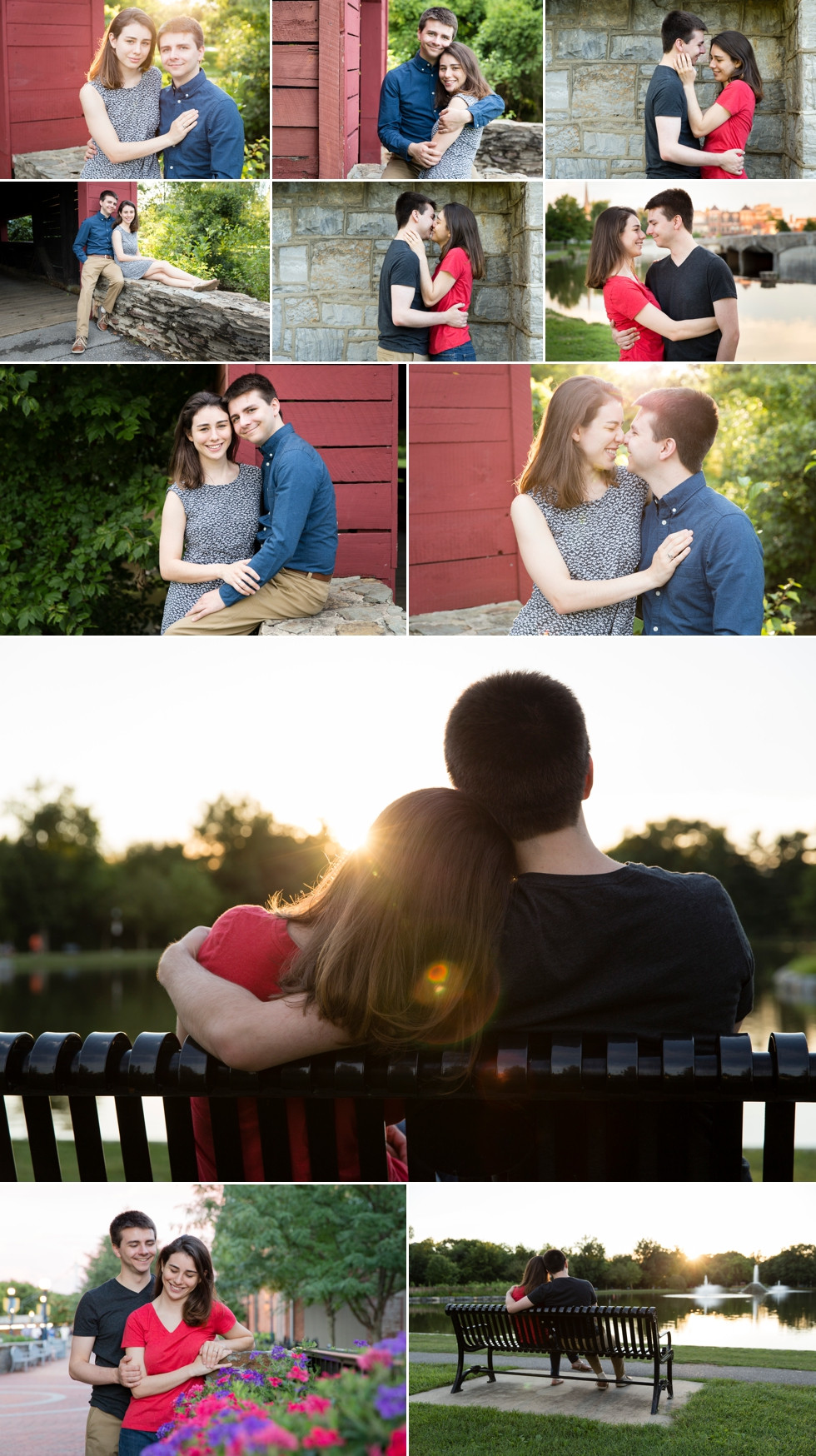 collage of engagement photos