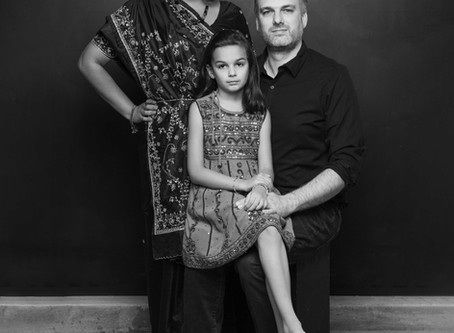 Malini, Karl, and their daughter - Black Lives Matter Project