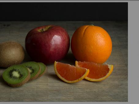 Tone Curve Examples - Fruit Still Life
