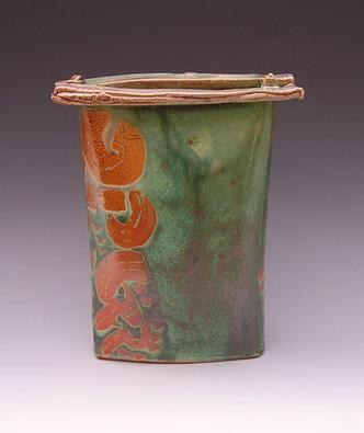 Barbara Hyman tall soda vase