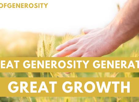 New SermonCast: Growth Generating Generosity