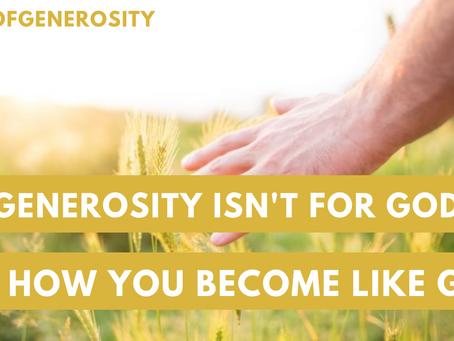 New SermonCast: Generous God, Generous People