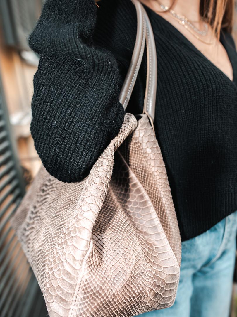 Shopping bag stampa anaconda.