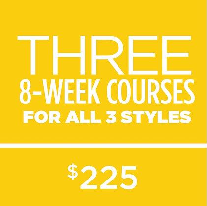 Three 8 Week Courses Package