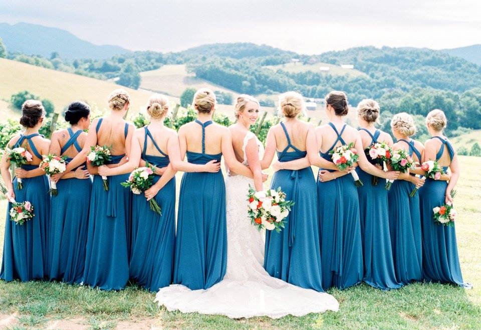 blue bridesmaides