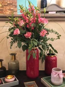 Vase red-gold in M und S