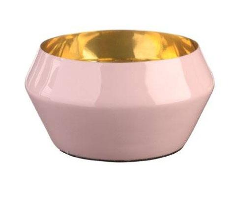 emailliertes Windlicht rosa