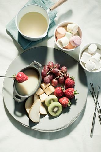 White Chocolate Fondue.  [FRANCE]