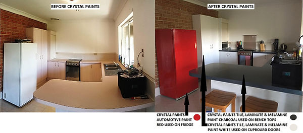 Before and After Laminate Paint