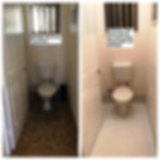 Before and After Tile Paint White