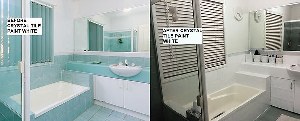Before and AfterTile Paint White