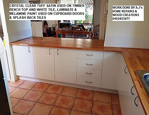 Before and After Melamine Paint White