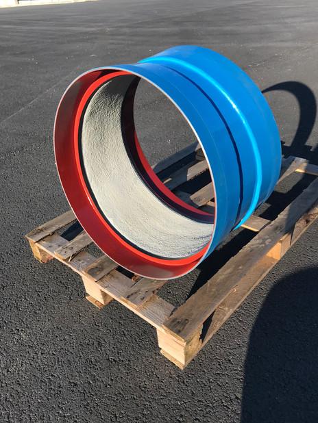 Coude DN600 - 11.25° - Ciment intérieur, PE à chaud extérieur