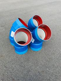 Coudes DN250 - Ciment int / PE à chaud ext