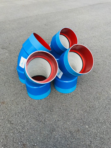 Elbows DN250 - Cement int / PE ext