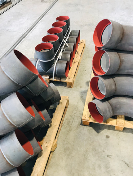 Coudes et tés DN200 - ciment/nu