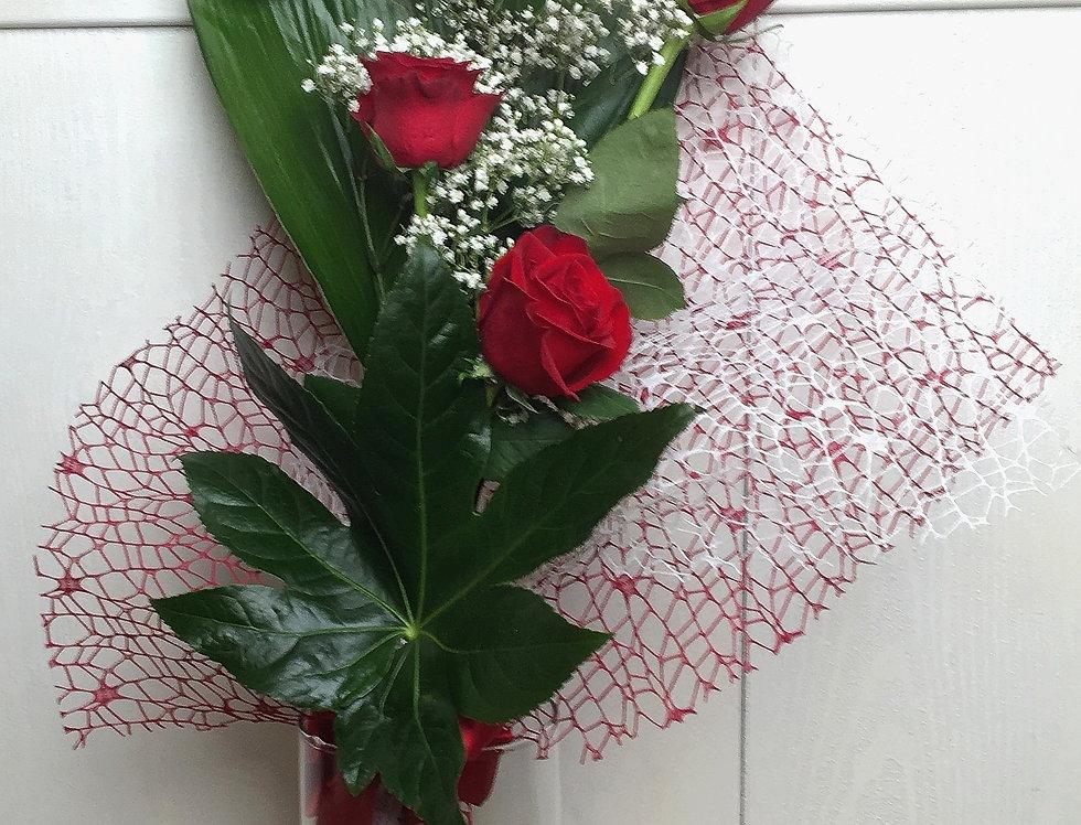 Mazzo con 3 Rose