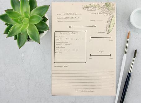 L'importanza di tenere un diario botanico (e 2 schede da scaricare in regalo).