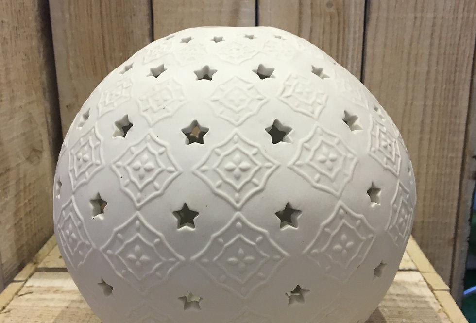 "Lanterna in gesso ""Snowball"""