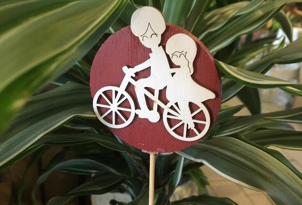 """Pick in legno """"Bici"""""""