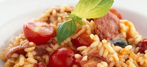 Sundried Tomato and Chorizo Risotto