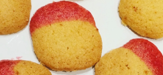Shortbread with Beetroot Glaze