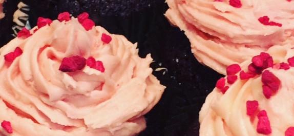Raspberry Velvet Cupcakes