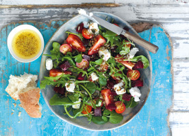 British Tomato, Beetroot and Watercress Salad