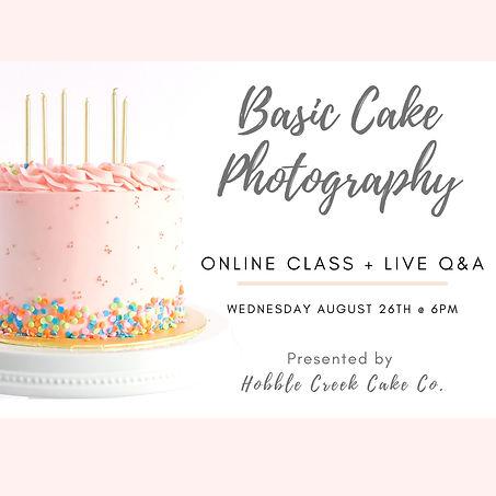 Cake Photography Class