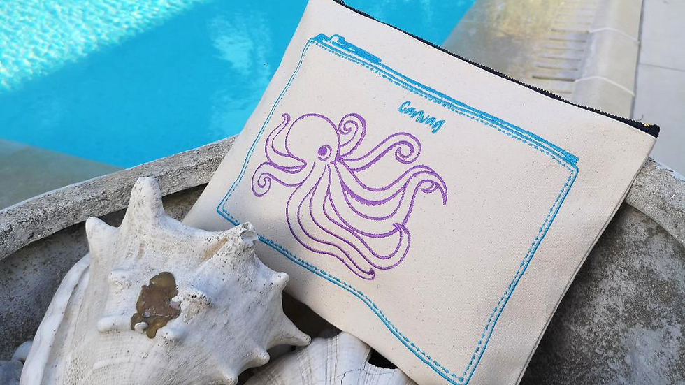 The octopus pouch in Blue