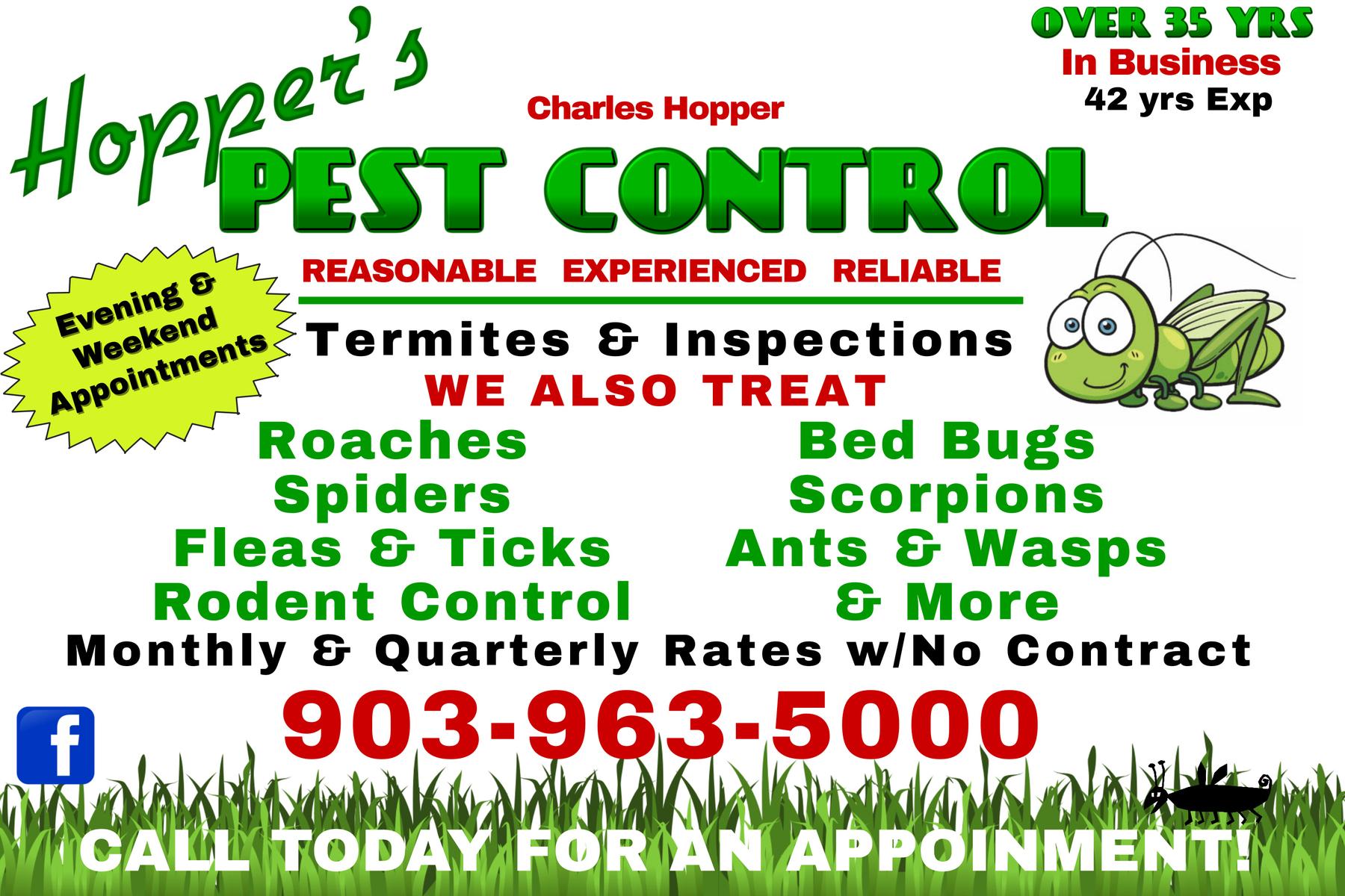 Hopper's Pest Control, Van, Texas