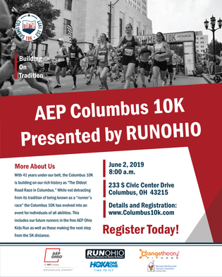 Columbus AEP 10K Magazine Page Design