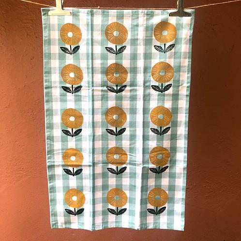 Yellow Flower Tea Towel